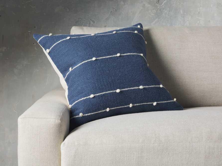 Nubby Stripe Pillow in Navy, slide 1 of 5