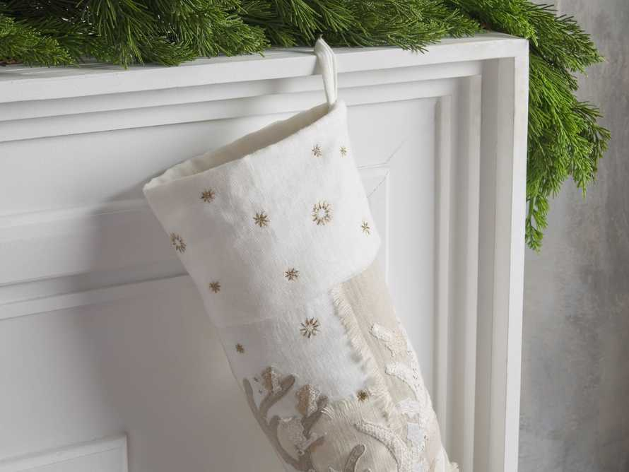 Natural Patched Stag Stocking, slide 2 of 4