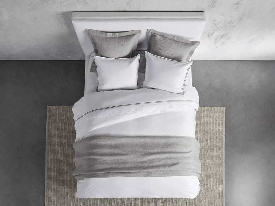 Queen Italian Embroidered Percale Sheet Set in Charcoal