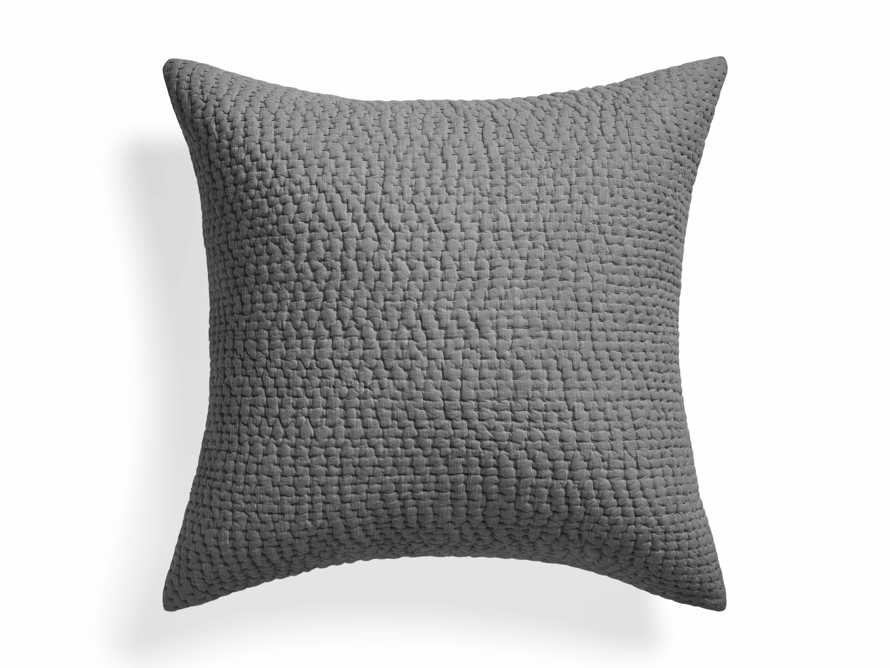 Euro Pickstitch Charcoal Shams