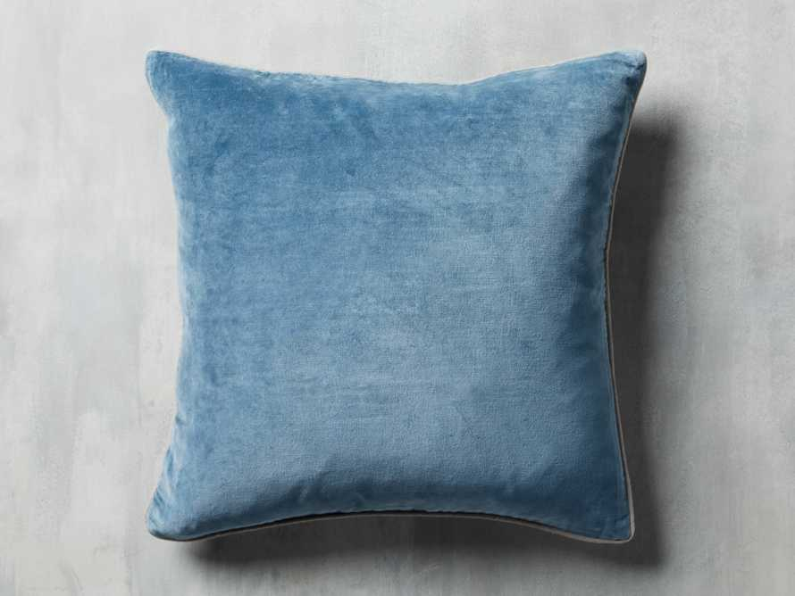 Reversible Velvet Pillow in Blue, slide 4 of 7