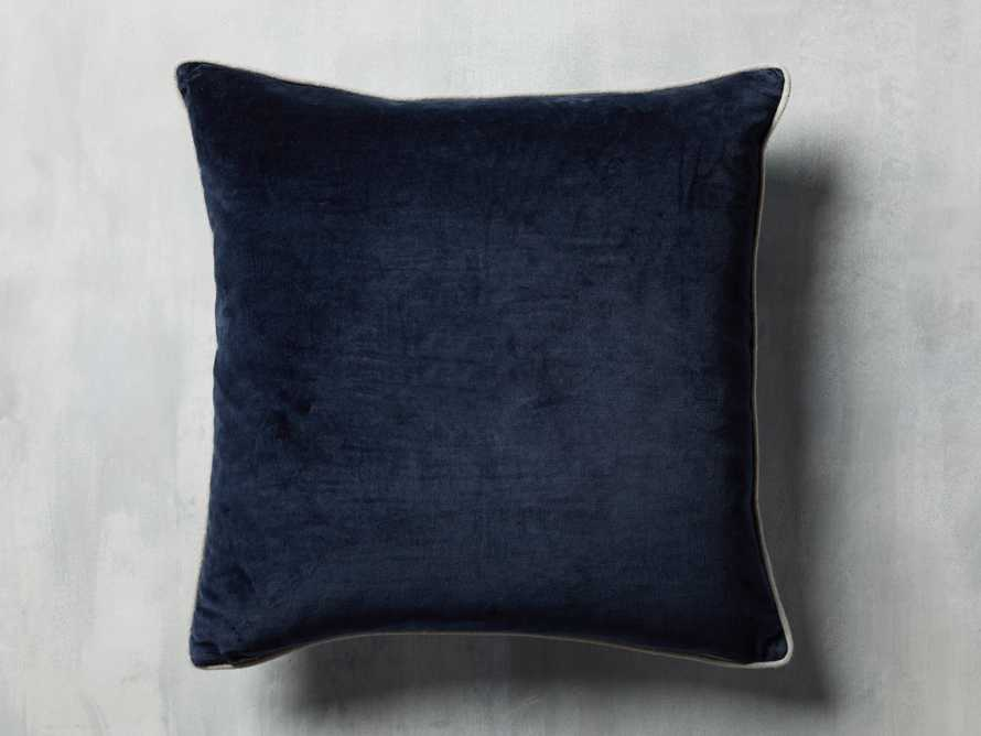 Reversible Velvet Pillow in Blue, slide 3 of 7