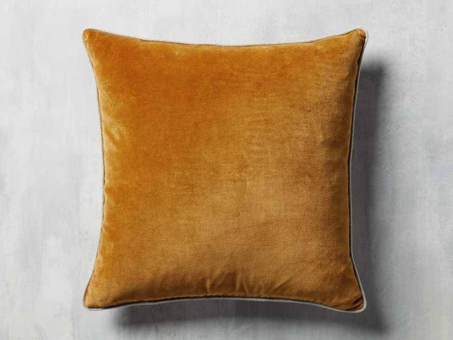 Reversible Velvet Pillow in Terracotta, slide 2 of 4