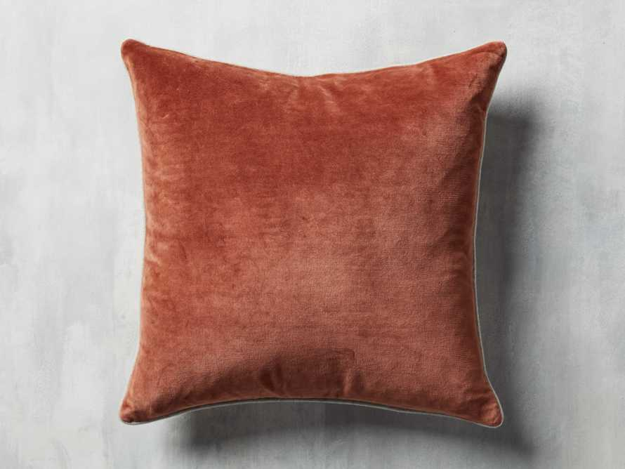 Reversible Velvet Pillow in Terracotta, slide 3 of 4