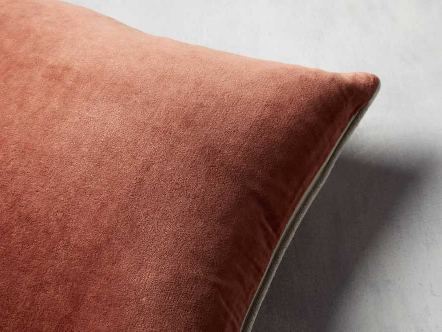 Reversible Velvet Pillow in Terracotta, slide 4 of 4
