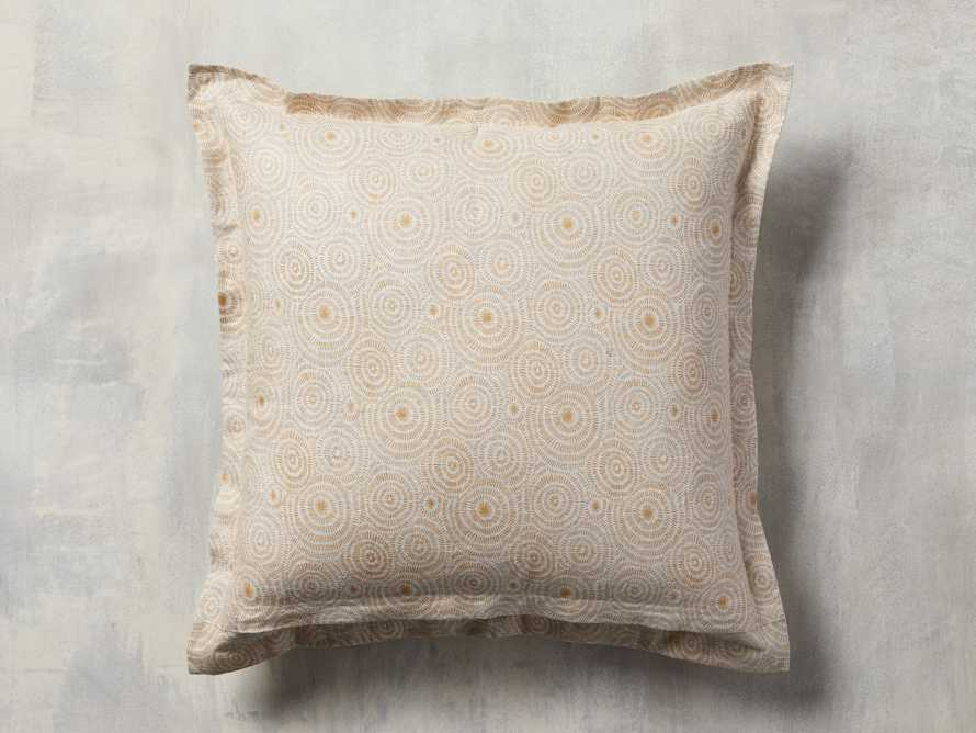 Sadie Block Print Pillow in Dijon, slide 3 of 5