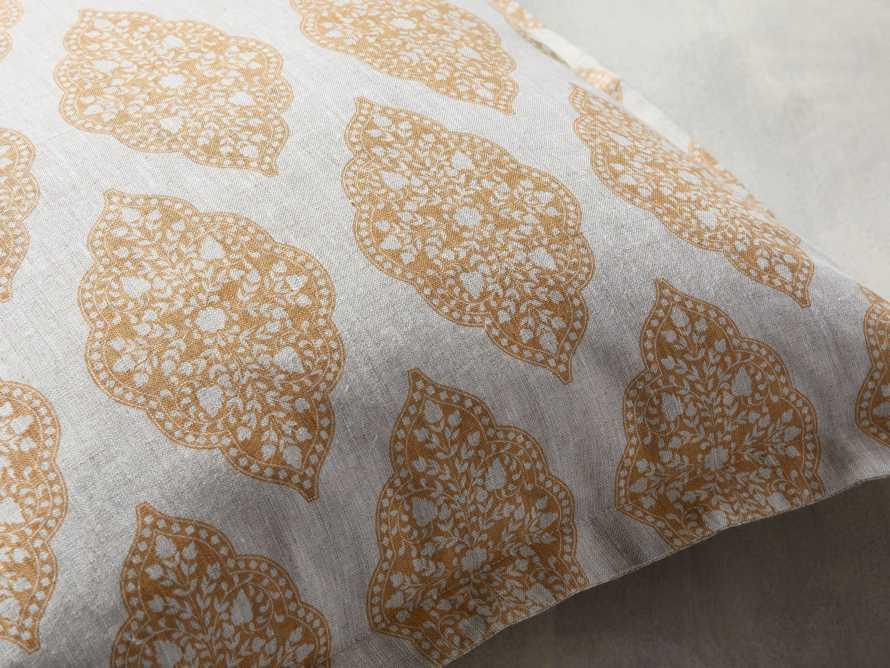 Sadie Block Print Pillow in Dijon, slide 4 of 5