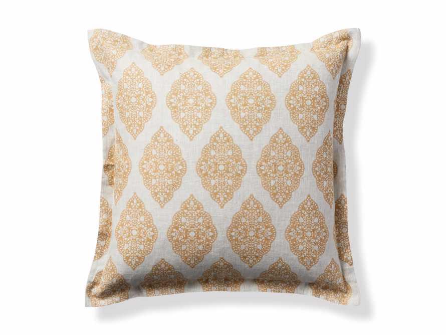 Sadie Block Print Pillow in Dijon, slide 5 of 5