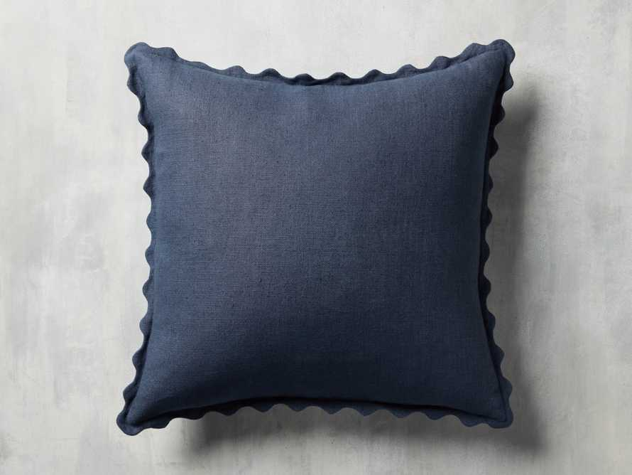 Elita Scallop Pillow in Blue, slide 3 of 4