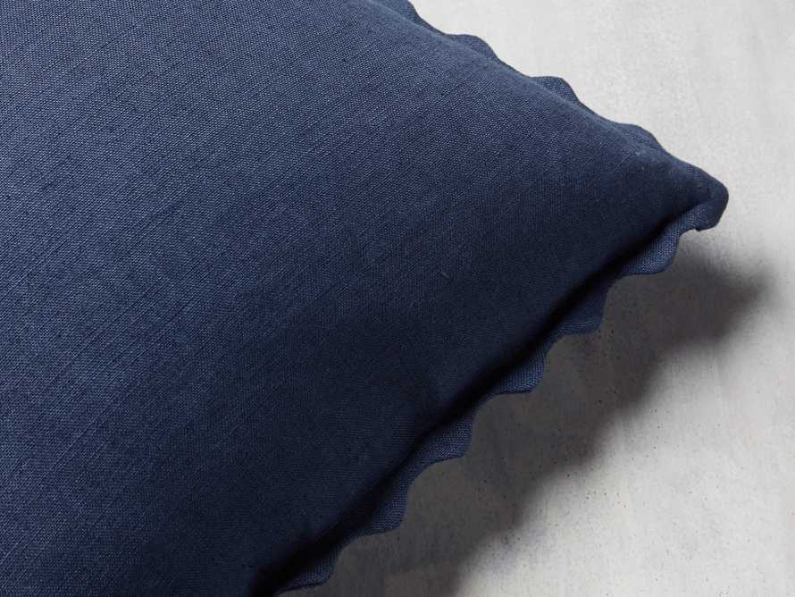 Elita Scallop Pillow in Blue, slide 2 of 4