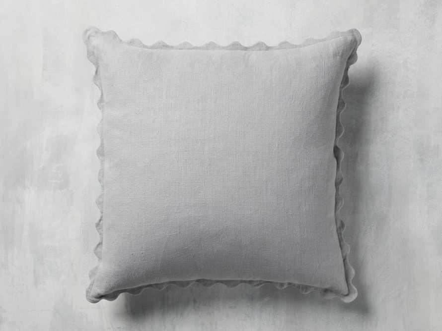 Elita Scallop Pillow in Grey, slide 2 of 3