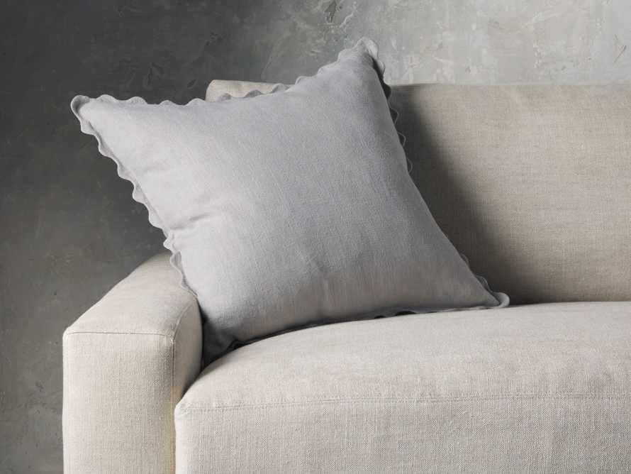 Elita Scallop Pillow in Grey, slide 1 of 3
