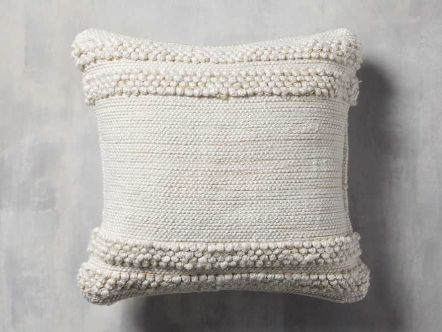 Seaside Outdoor Pillow in Ivory, slide 1 of 4