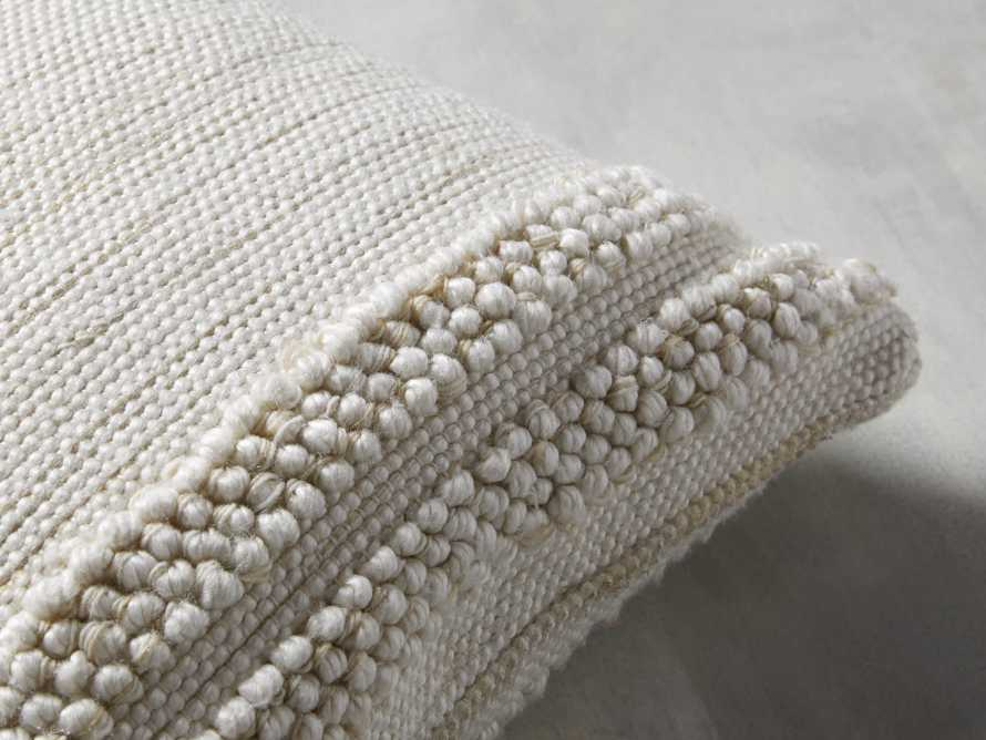 Seaside Outdoor Pillow in Ivory, slide 2 of 4