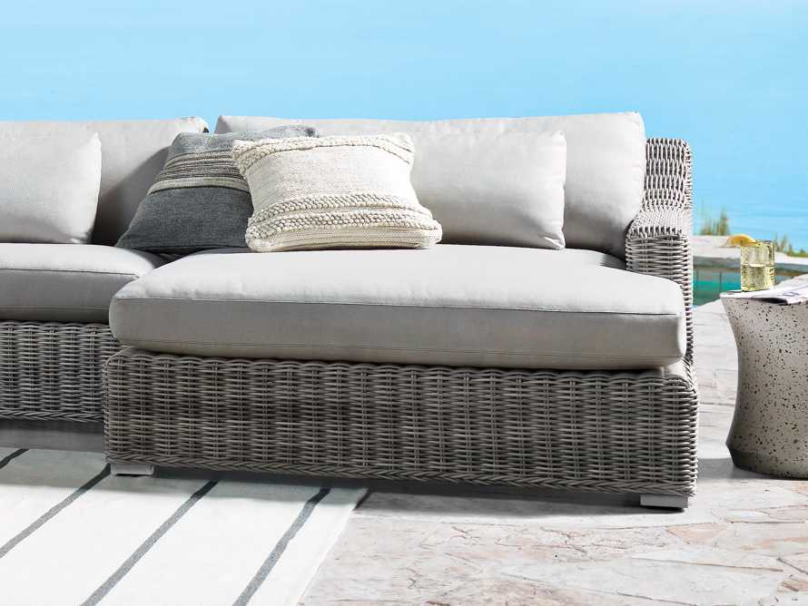 Seaside Outdoor Pillow in Ivory, slide 4 of 4