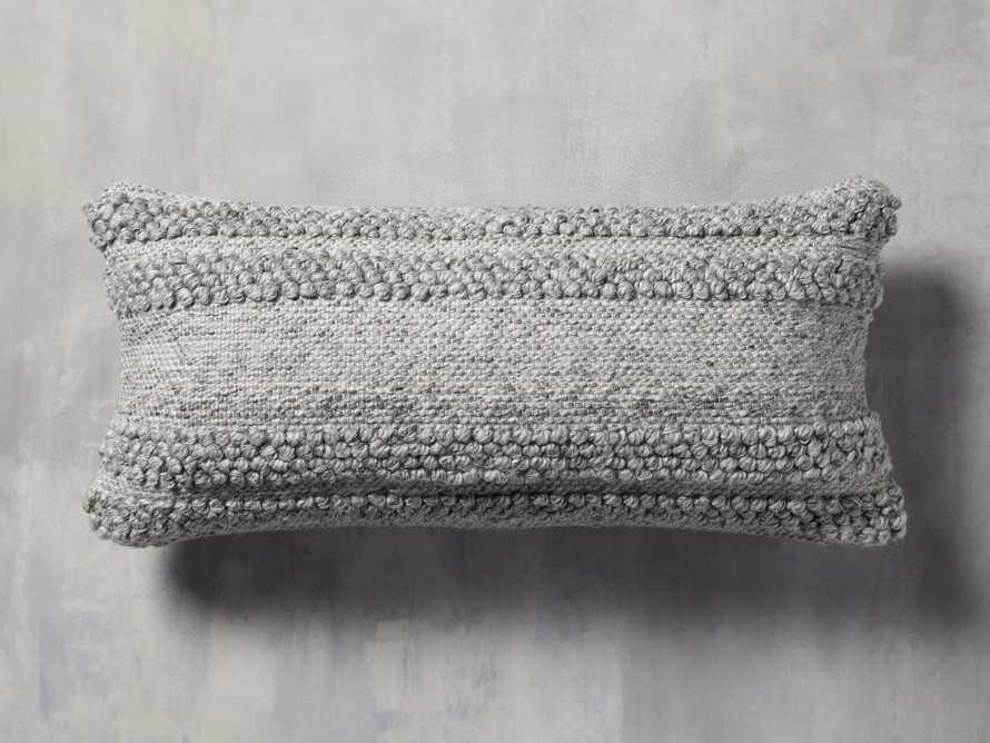 Seaside Outdoor Lumbar Pillow in Grey, slide 1 of 3