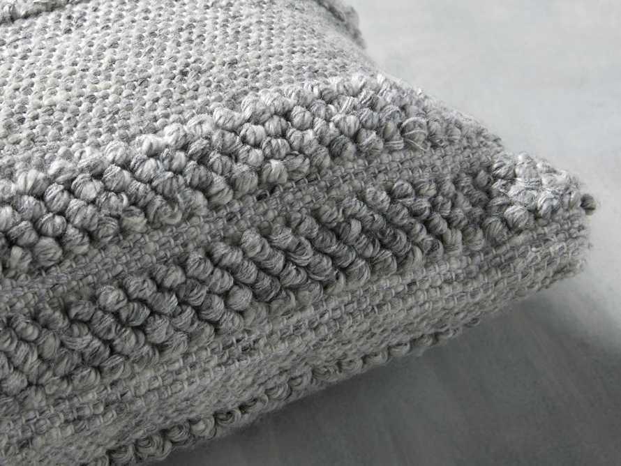 Seaside Outdoor Lumbar Pillow in Grey, slide 2 of 3