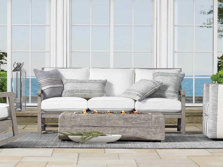 Seaside Outdoor Lumbar Pillow in Grey, slide 3 of 3