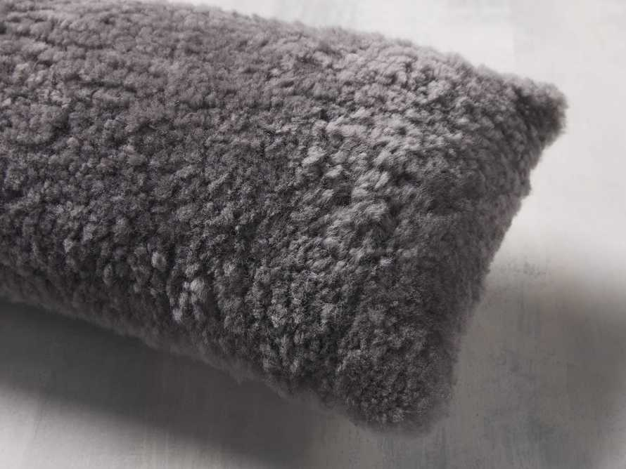 Shearling Pillow in Stone, slide 2 of 4