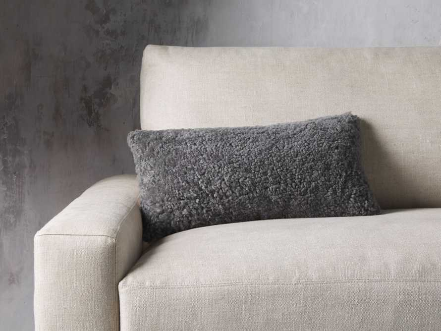 Shearling Pillow in Stone, slide 1 of 4