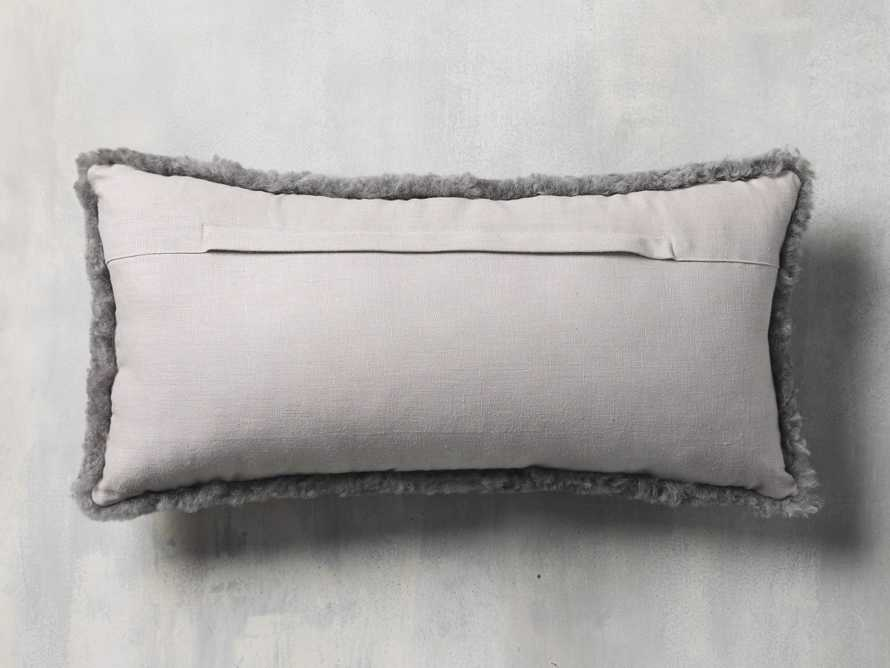 Shearling Pillow in Stone, slide 4 of 4