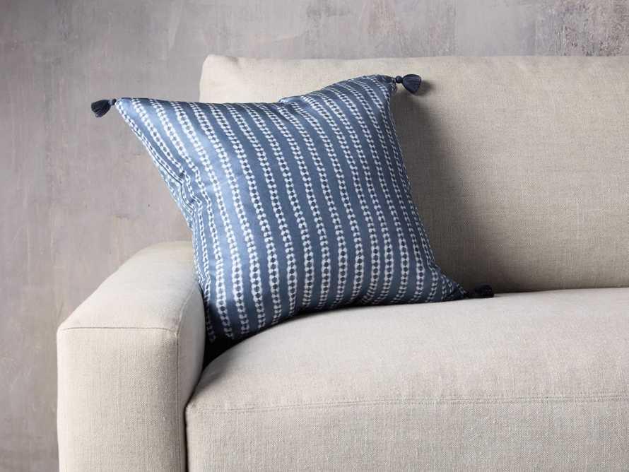 "Striped Silk Shibori 20"" Pillow, slide 1 of 6"