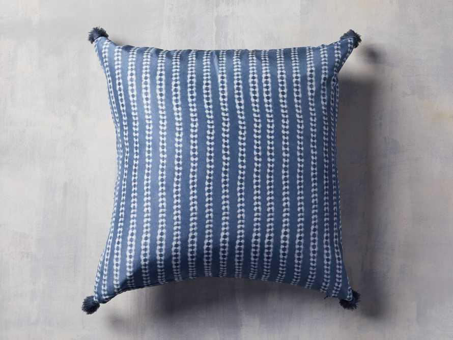 "Striped Silk Shibori 20"" Pillow, slide 3 of 6"
