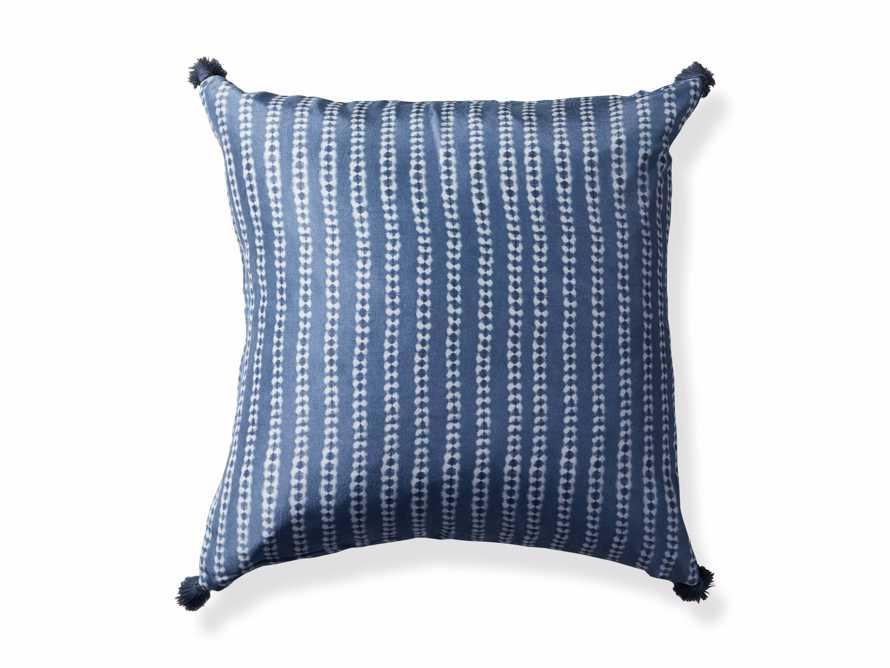 "Striped Silk Shibori 20"" Pillow, slide 6 of 6"