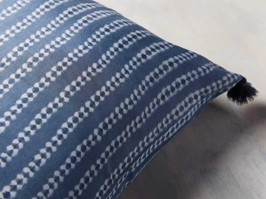 "Striped Silk Shibori 20"" Pillow, slide 2 of 6"