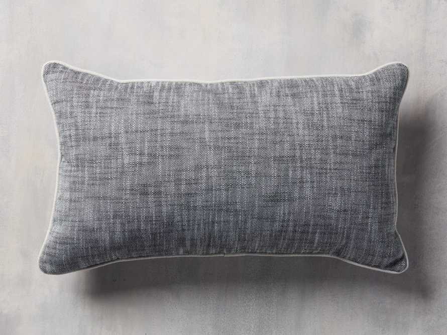 Solid Piped Outdoor Pillow in Oxide