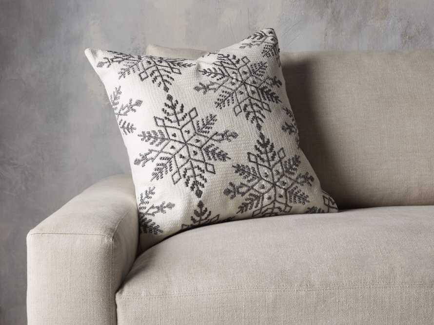 Metallic Snowflake Pillow Cover, slide 4 of 5