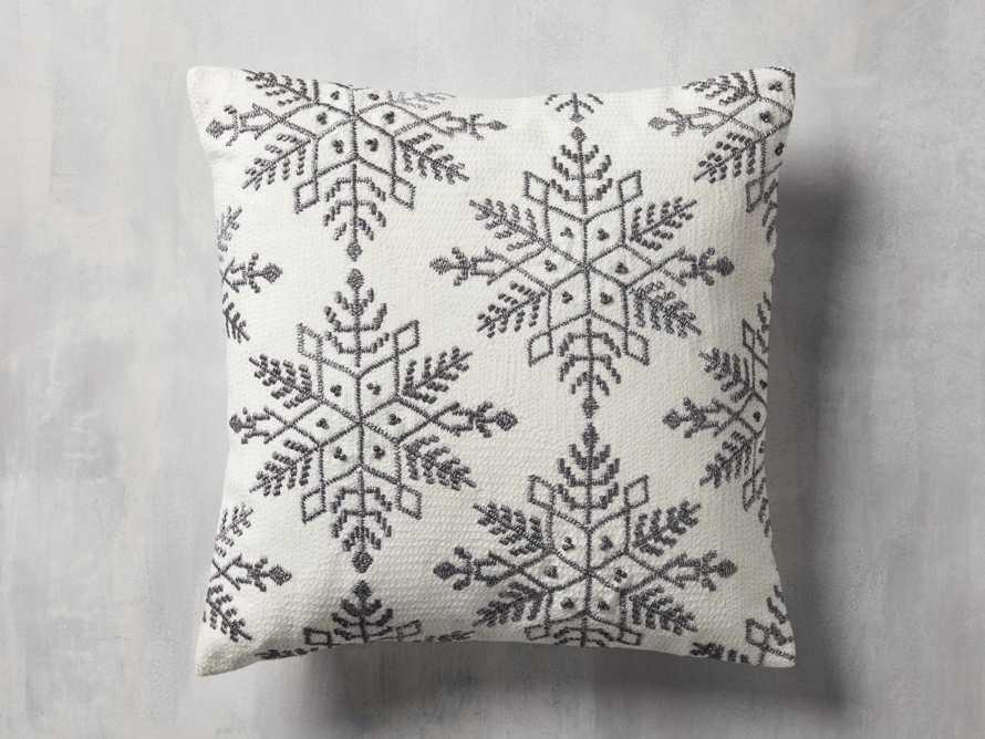 Metallic Snowflake Pillow Cover, slide 1 of 5