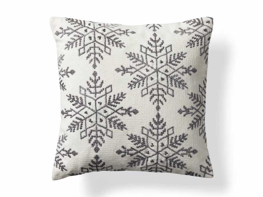 Metallic Snowflake Pillow Cover, slide 5 of 5