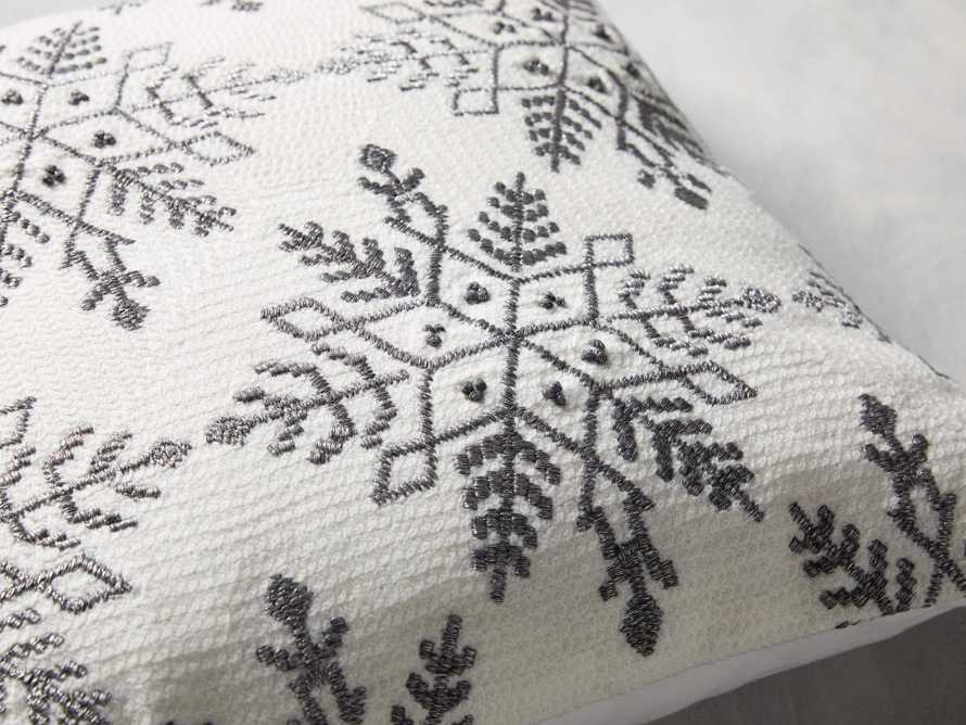 Metallic Snowflake Pillow Cover, slide 3 of 5