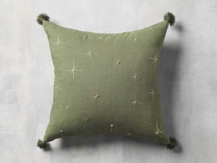 Alaia Star Pillow in Green, slide 3 of 4