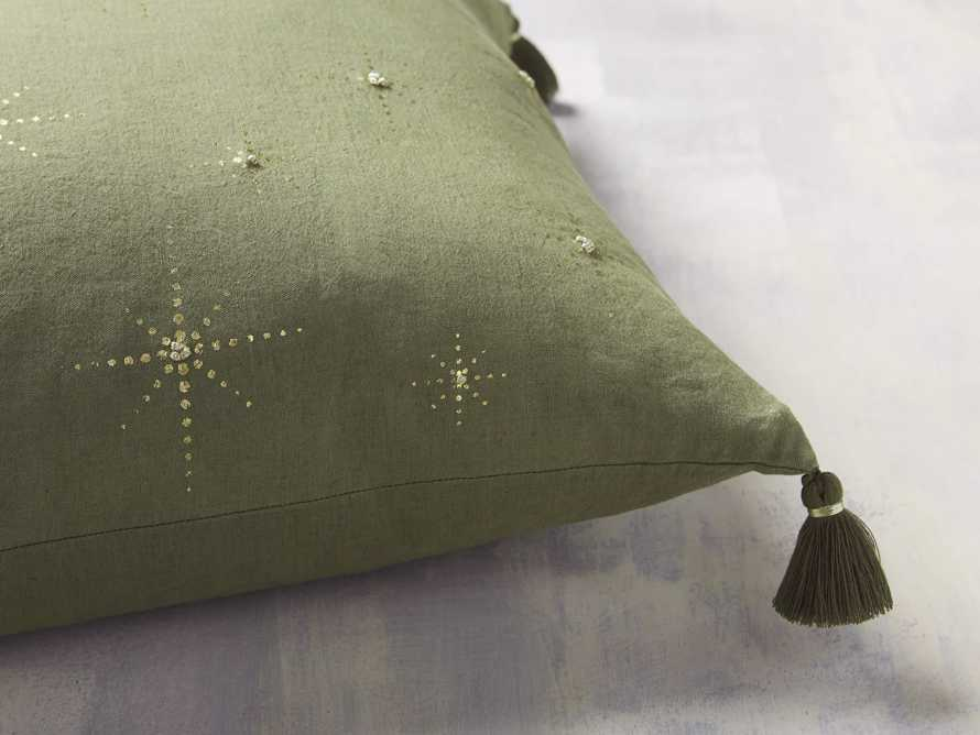 Alaia Star Pillow in Green, slide 2 of 4
