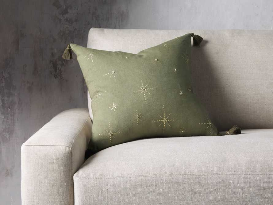 Alaia Star Pillow in Green, slide 1 of 4