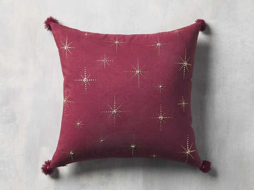 Alaia Star Pillow in Red, slide 3 of 5