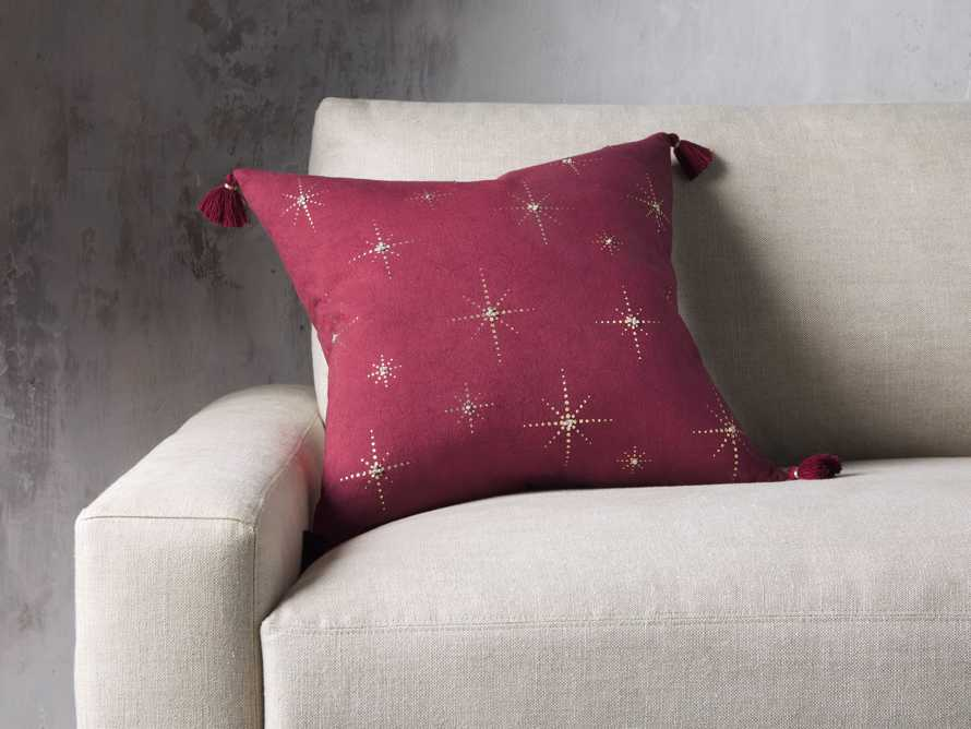 Alaia Star Pillow in Red, slide 1 of 5
