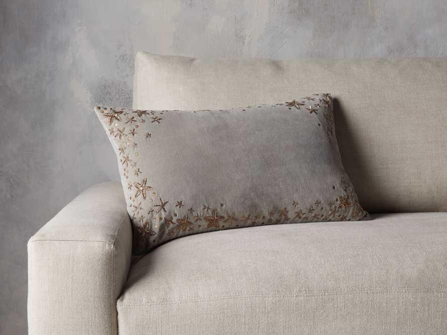 Grey Starburst Lumbar Pillow Cover, slide 4 of 5