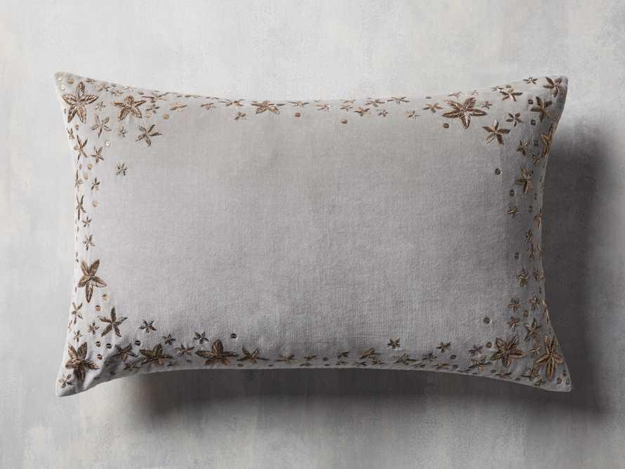 Grey Starburst Lumbar Pillow Cover, slide 1 of 5