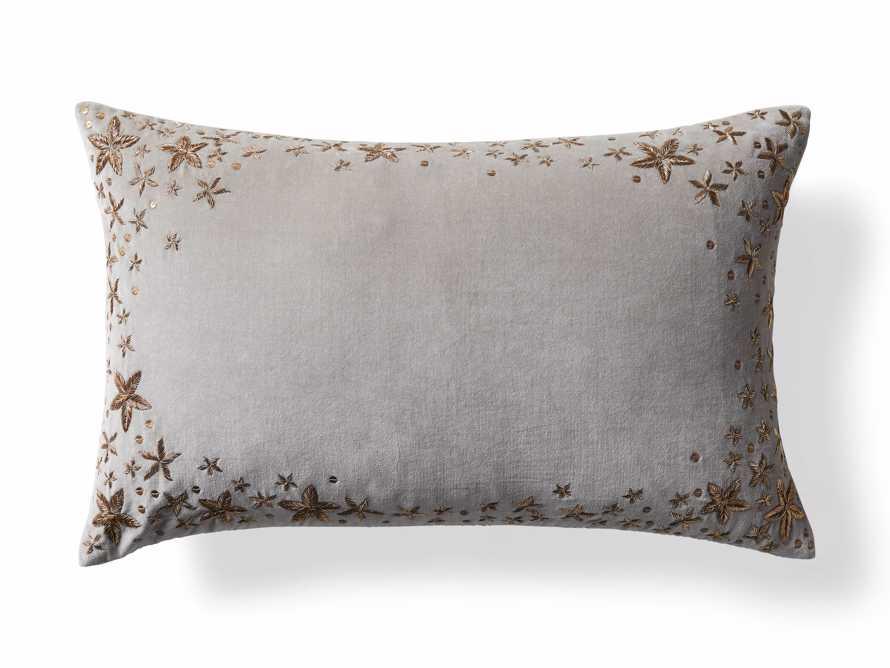 Grey Starburst Lumbar Pillow Cover, slide 5 of 5