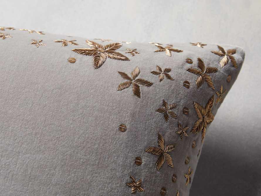 Grey Starburst Lumbar Pillow Cover, slide 3 of 5