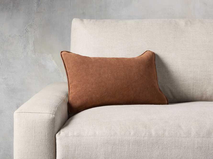 Suede Lumbar Pillow in Camel, slide 1 of 5