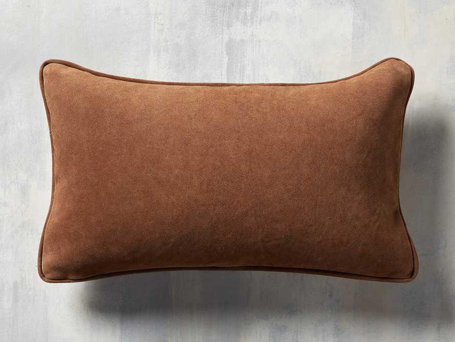 Suede Lumbar Pillow in Camel, slide 3 of 5
