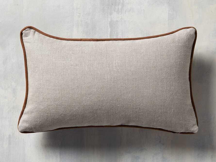 Suede Lumbar Pillow in Camel, slide 4 of 5