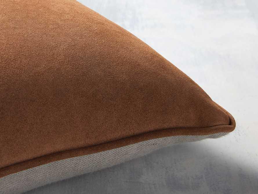Suede Lumbar Pillow in Camel, slide 2 of 5
