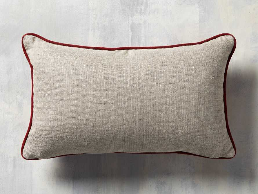 Suede Lumbar Pillow in Red, slide 4 of 4