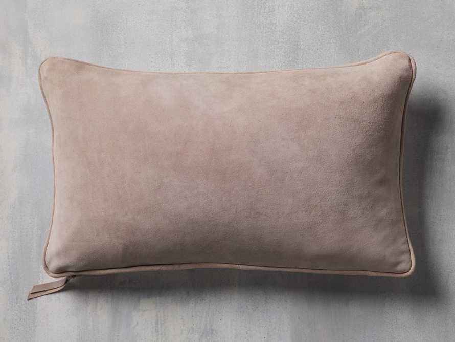 Suede Lumbar Pillow in Rose, slide 3 of 7