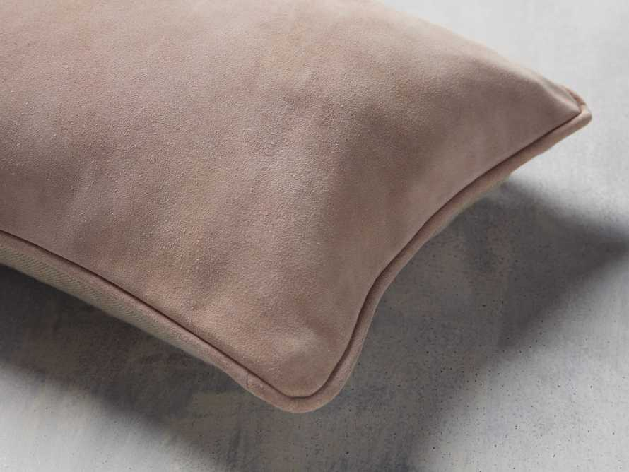 Suede Lumbar Pillow in Rose, slide 2 of 7